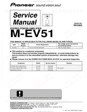 pioneer m ev51 manuals rh manualslib com Pioneer Elite M 91 Pioneer M 90