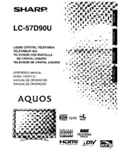 Sharp Aquos LC 57D90U Operation Manual