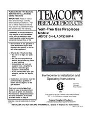 Rdvn series gas fireplace heater   temco tool 36rdvn user manual.