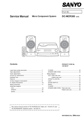 Sanyo DC-MCR300 Service Manual