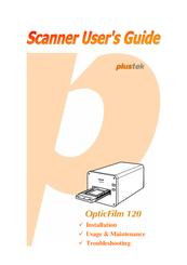 Plustek OpticFilm 120 Manuals