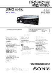 инструкция Sony Cdx Gt450 - фото 6