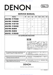 denon avr 589 manuals rh manualslib com denon receiver avr 589 manual denon avr-589 owners manual