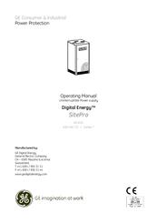 GE DIGITAL ENERGY SITEPRO 400 VAC CESERIES 7 OPERATING ... on