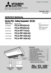 Mitsubishi Electric Mr Slim Pca Rp125kaq Manuals