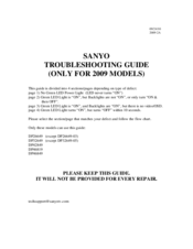 Sanyo 2009 DP42849 Service Manual