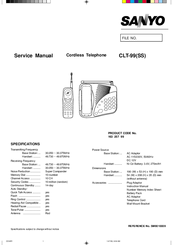 Sanyo CLT-99 Service Manual