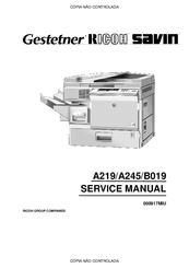 RICOH A219 SERVICE MANUAL Pdf Download
