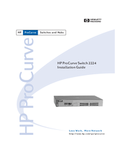 HP ProCurve 2224 Installation Manual