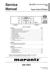 Marantz Sa 15s1 Manuals Manualslib