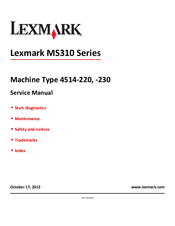 3 lexmark c520 522 524 530 532 534 service and parts manual.