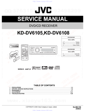 JVC KD-DV6105 SERVICE MANUAL Pdf Download. on