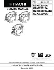 hitachi dz gx5020a manuals rh manualslib com hitachi dz-gx5020e manual Hitachi Repair Manual