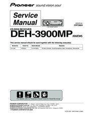pioneer deh 3900mp service manual pdf download rh manualslib com pioneer deh 3900mp user manual pioneer deh-3900mp installation manual