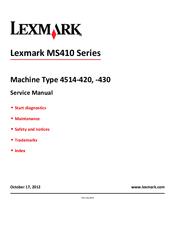 lexmark ms410 series service repair manual
