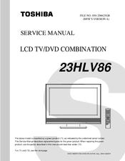 toshiba 23hlv86 manuals rh manualslib com Big Screen TV Repair Manuals LG LCD TV