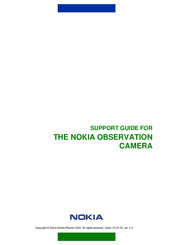 Nokia OBSERVATION CAMERA Support Manual