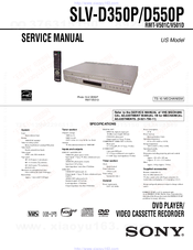 sony slv d350p operating instructions slvd350p dvd vcr manuals rh manualslib com Sony Hi-Fi VCR DVD Recorder VHS Combo Player Record From VHS sony dvd vhs player user manual
