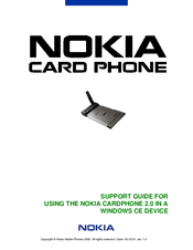 Nokia Card phone User Manual