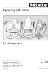 Miele 09 255 930 Operating Instructions Manual