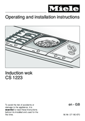 Miele CS 1223 Operating And Installation Instructions