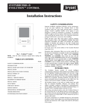 bryant systxbbuid01 d manuals rh manualslib com Bryant Thermostat Replacement Bryant Evolution System Thermostat Manual