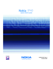 Nokia IP40 - Satellite Unlimited - Security Appliance Quick Start Manual