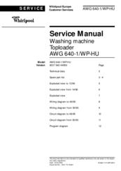 whirlpool awg 640 1 wp hu manuals rh manualslib com Whirlpool Refrigerator Service Whirlpool Repair Service
