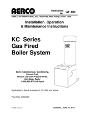 aerco kc series manuals rh manualslib com Basic Boiler Wiring Cleaver-Brooks Boiler Wiring Diagrams