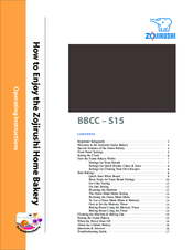 zojirushi bbcc s15 manuals rh manualslib com zojirushi breadmaker bbcc-s15 recipes Zojirushi Bread Machine Bbcc N15 Parts