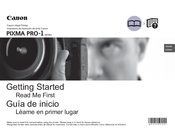 Canon PIXMA PRO-1 Series Getting Started
