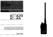 icom ic a5 manuals rh manualslib com icom ic-a5 manual pdf Icon A5