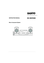Sanyo DC-MCR300 Instruction Manual