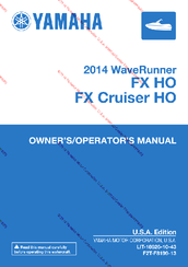 Yamaha FX Cruiser HO Owner's/operator's Manual