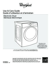 Whirlpool WED97HEDW Use & Care Manual