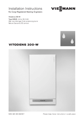 Viessmann Vitodens 200 W System Manuals