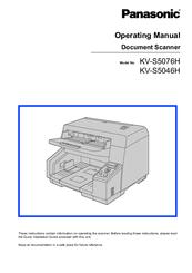 panasonic kv s5046h manuals rh manualslib com Panasonic Document Scanner Panasonic Kv-S4085c Spec
