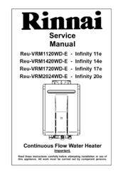 rinnai reu vrm1720wd e infinity 17e manuals rh manualslib com