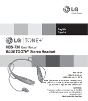 LG HBS-730 User Manual