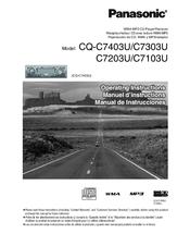 PANASONIC CQ-C7403U OPERATING INSTRUCTIONS MANUAL Pdf Download. on