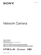 Sony IPELA SNC-CH140 User Manual
