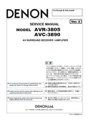 denon avr 3805 manuals rh manualslib com denon avr-3600 manual pdf Inside a Denon AVR 3600