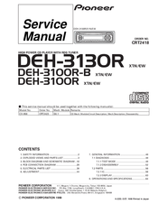 869456_deh3130r_product pioneer deh 3100r b manuals pioneer mosfet 45wx4 wiring diagram at highcare.asia