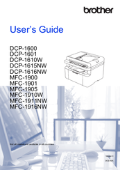 Brother DCP-1600 User Manual