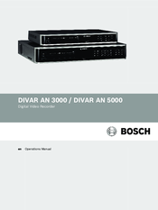 Bosch DIVAR AN 5000 Operation Manual