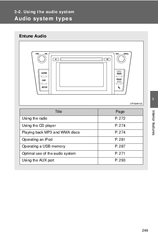 Toyota Navigation and Multimedia System Manuals