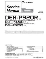 pioneer deh p9200r manuals. Black Bedroom Furniture Sets. Home Design Ideas