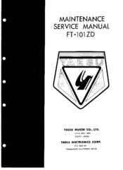 "Yaesu ft-101zd service manual: 11""x 17"" foldout diagrams & card."