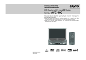 Sanyo AVC-100 Installation And Operation Manual