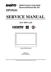 Sanyo DP19241 Service Manual